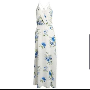 Lush floral ivory maxi dress